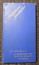 Vintage DISTANCE AND SPEEDTABLES A Schryver & Co. HC FN- Photos/Charts Rotterdam