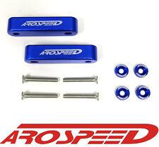 """AROSPEED BLUE CNC BILLET 3/4"""" HOOD VENT SPACER RISER KIT + BOLTS + WASHERS"""