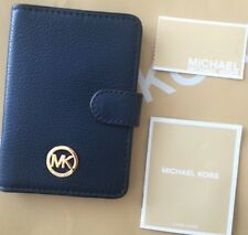 MICHAEL KORS FULTON Lthr PASSPORT CASE PASSPORT CASE/WALLET~NAVY~NWT