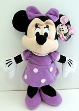 """Mickey Mouse Clubhouse 9"""" Minnie Mouse Purple Dress Plush Toy New/Tags Disney"""