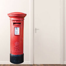 Real Look LARGE Royal Mail Post Box Red Letterbox Full Colour Wall Sticker Decal