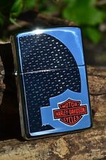 Zippo Lighter - Harley Davidson - HD Shadow - Carbon Fiber - Bar & Shield  24009