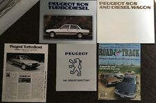 Peugeot 505 Turbodiesel Brochure and Info