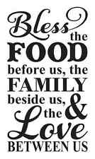 """Kitchen Stencil**Bless the Food Before Us **For Painting Signs Large 12""""x 20"""""""