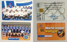 Set 2 Schede PhoneCards Greece Grecia Sport National Teams Squadre Nazionali