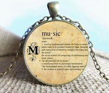 Vintage Quote Cabochon Bronze Glass Chain Pendant Necklace #sw48