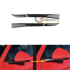 4 Carbon Fiber Rear View Mirror Decorative Trim Sticker For 2015-up Ford Mustang