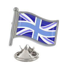 Blue Union Jack Wavy Flag Pin Badge UK Kingdom British English New & Exclusive