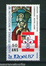 SAINT PIERRE  MIQUELON - 1987 YT 483 NOËL - TIMBRE NEUF** LUXE