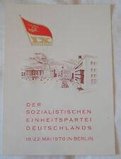 DDR - GEDENKBLATT A4 - IX. PARTEITAG der SED 1976 - Alex und FERNSEHTURM (671)