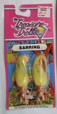 troll doll earrings yellow trolls small dolls troll jewelry ear rings treasure