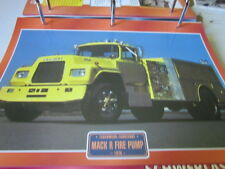 Super trucks bomberos unidos mack R tire Pump 1978