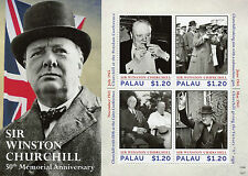 Palau 2015 MNH Sir Winston Churchill 50th Memorial Anniv 4v M/S Roosevelt Stamps