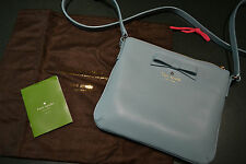 NEW KATE SPADE BLUE LEATHER NORTH COURT BOW CROSSBODY BAG  NEVER USED