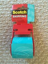 Scotch Decorative Shipping Packaging Tape Green White Leaves 1.88 in x 500 in