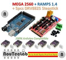 Mega 2560 R3 + RAMPS 1.4 Control Panel + 5pcs DRV8825 Stepper Drive