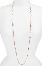 Givenchy 22242 Rose Gold Extra Long Station Necklace