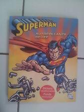 album SUPERMAN avec autocollants en relief : stickers repositionnables