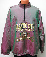 vtg Wise Guy ATLANTIC CITY Iridescent Green Pink Ski Surf Jacket OSFA crazy 90s