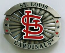 "St.Louis Cardinals 4"" Oversized Pewter Metal Belt Buckle MLB Licensed Baseball"