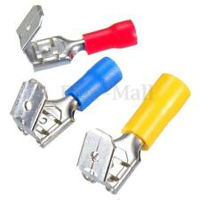 100Pcs Red&Blue&Yellow Piggyback Insulated Spade Crimp Terminal Connectors Kit