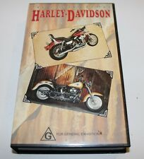 THE HISTORY OF THE HARLEY DAVIDSON VHS VIDEO MOTORBIKE