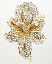 KIRKS FOLLY DIVINE ORCHID  PIN GOLDTONE / SPARKLING AB ~~NEVER RELEASED~~