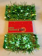 Christmas Tinsel Garland Festive  9 Ft. Green