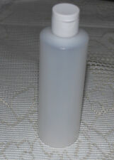 Brand New 8 Oz Natural Plastic Bottle with Disc-top Cap Top