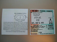 1971 F.A. Cup Final Ticket Arsenal v Liverpool mint condition.