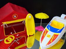Barbie Baywatch Life Guard Station Rescue Speed Boat Stretcher VTG Mattel 1990