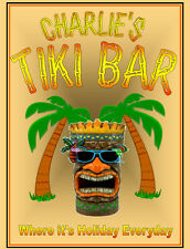 Personalised Pub sign, Tiki Home Bar, homebrew, Funny drinking sign Free Postage