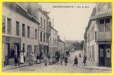cpa SUPERBE 77 - GUIGNES Rue de PARIS HÔTEL ste BARBE FERMIER RATELEUSE CHEVAL