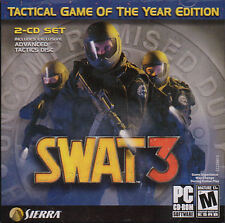 SWAT 3 Tactical Game of the Year Edition 2-CD Set - Vintage PC Game NEW SEALED!!