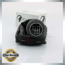 For Audi A3 S3 01-03 6 Speed Gear Shift Knob Gaiter Boot Red Line 8L0863278BJ