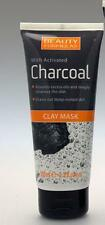 ** BEAUTY FORMULAS CLAY MASK WITH ACTIVATED CHARCOAL NEW ** 100ml