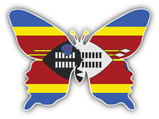 Swaziland Flag Butterfly Car Bumper Sticker Decal 5'' x 4''