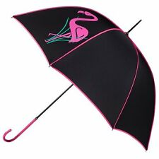 Totes Elegant Walker Umbrella - Pink Flamingo