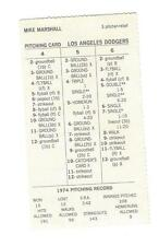 *1974 Strat O Matic Los Angeles Dodgers Minis, NL Champs, Marshall 106 pitched*