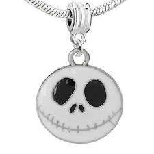 """Nightmare Before Christmas Halloween Skull Bell/one Sided Pendant"" Charm Bea..."