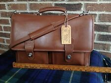 VTG SACOCHE BASEBALL GLOVE LEATHER BRIEFCASE SATCHEL BAG MADE IN USA R$798