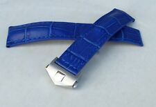 22mm BLUE COLOR Carrera Monaco Band Strap Alligator-Style w/Clasp for TAG