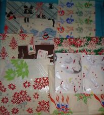 AS-IS CRAFT SCRAPS Vintage CHRISTMAS WRAPPING GIFT TISSUE PAPER AS-IS