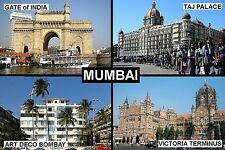 SOUVENIR FRIDGE MAGNET of MUMBAI BOMBAY INDIA