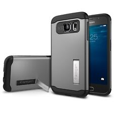 Spigen Galaxy S6 Case Slim Armor Series Gunmetal