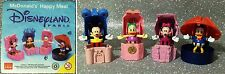 DISNEY DISNEYLAND PARIS SERIE 4 PERSONAGGI HAPPY MEAL MCDONALD'S 1986