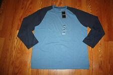 NWT Mens IZOD Heathered Blue Navy Blue Long Sleeve LS Shirt 2XL XXL