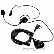 2-PIN Headset PTT for Kenwood Puxing Wouxun Baofeng Radio with boom mic C2F2