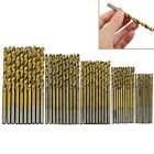 50 Pcs Titanium Coated HSS Typical Steel Drill Bit Set Tool 1/1.5/2/2.5/3mm