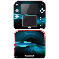 Vinyl Skin Decal Cover for Nintendo 2DS - Abstract Future Night Blue